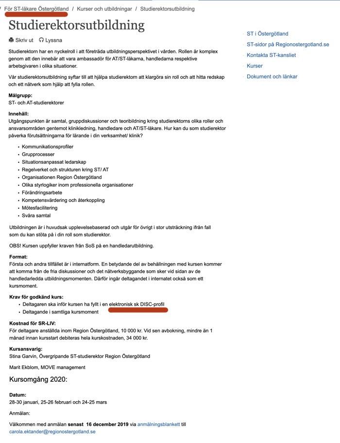 ÖstergötlandStudierektor