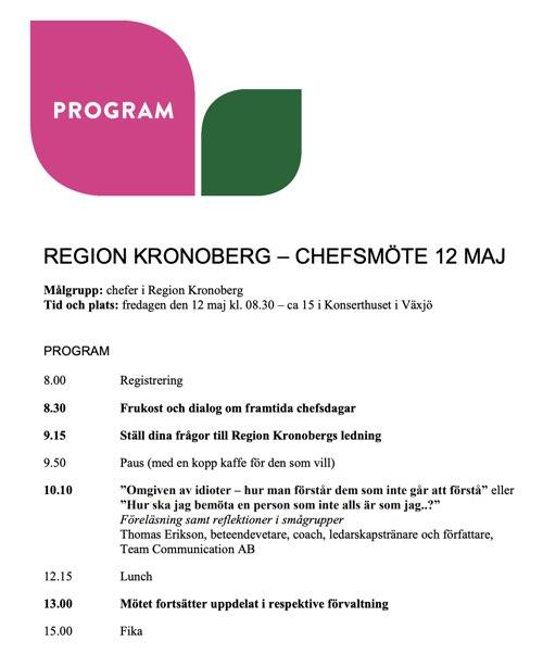 RegionKronobergChefsmöte