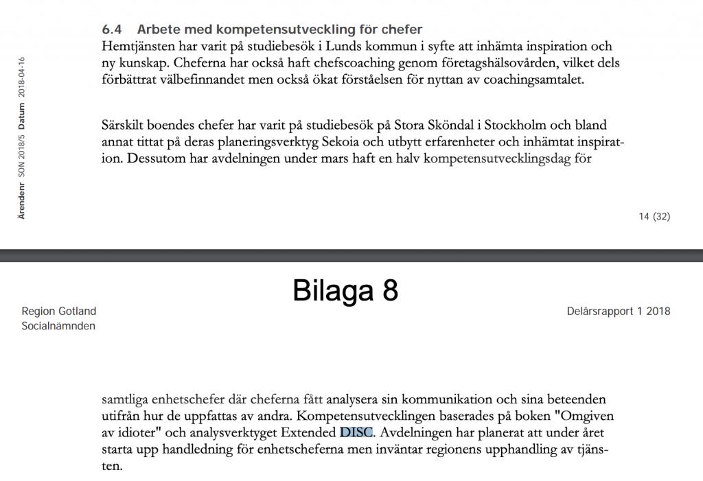 Region Gotlands socialnämnd använder DISC