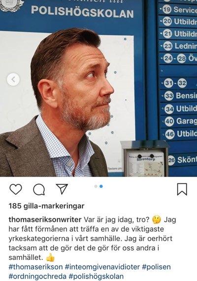 Thomas Erikson på Polishögskolan.